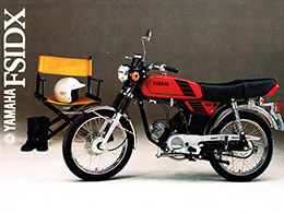 1980 83 YAMAHA FS1 DX 3F6 MAXIM RED   BROCHURE
